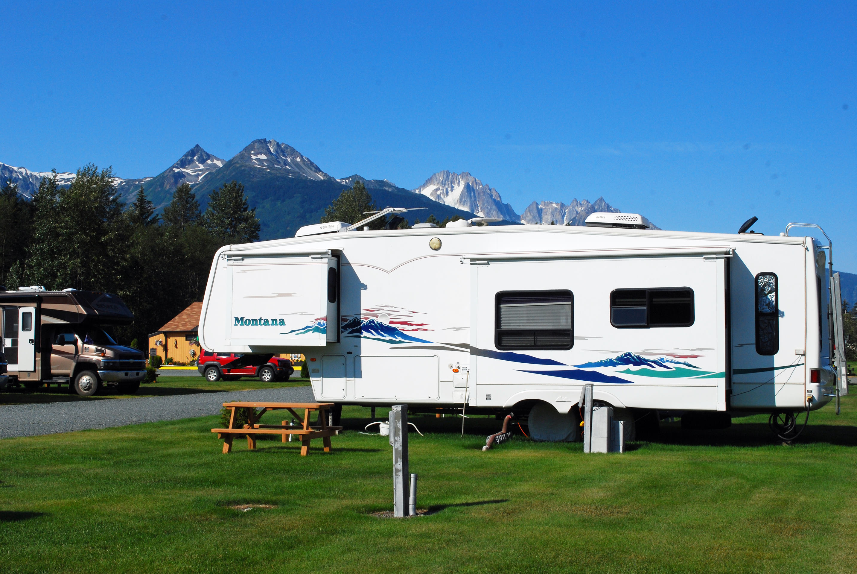 Haines Hitchup RV Back In Sites